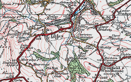 Old map of Woodthorpe Hall in 1923