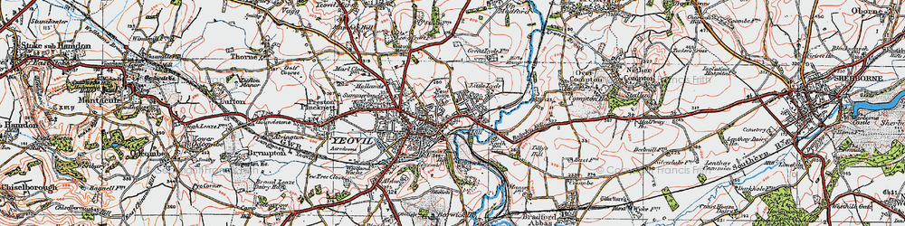 Old map of Tilly's Hill in 1919