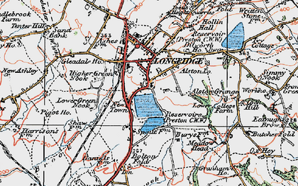 Old map of Alston Grange in 1924
