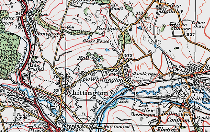 Old map of New Whittington in 1923