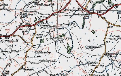 Old map of Ashwood in 1921