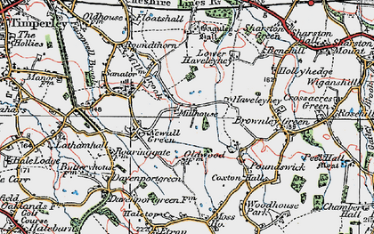 Old map of Baguley Hall in 1923