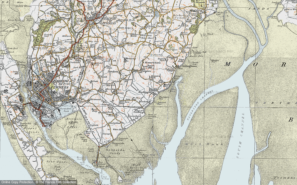 Old Map of Historic Map covering Leonard Scar in 1924