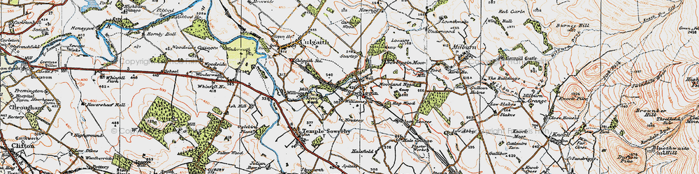Old map of Williamsgill in 1925