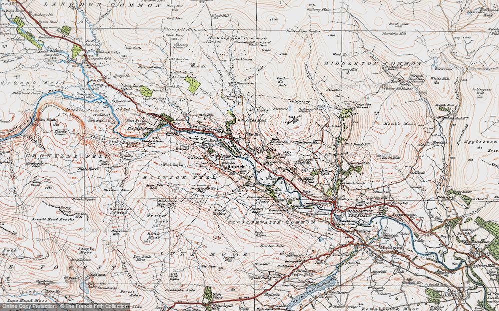 Old Map of Newbiggin, 1925 in 1925