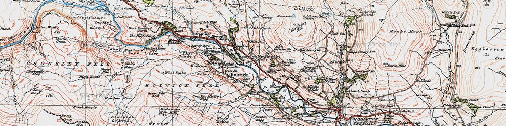 Old map of Newbiggin in 1925