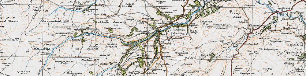 Old map of Allenshields in 1925