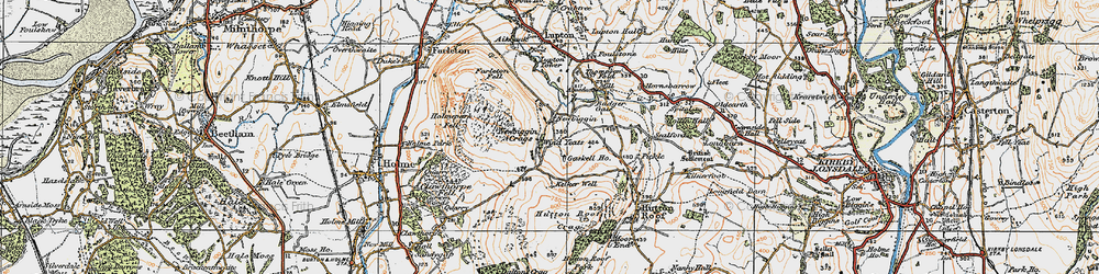 Old map of Whin Yeats in 1925