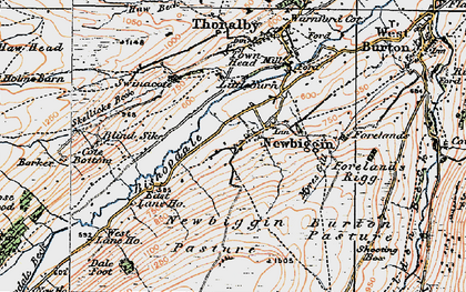 Old map of Barker in 1925