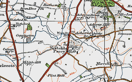 Old map of Woozeley Br in 1919