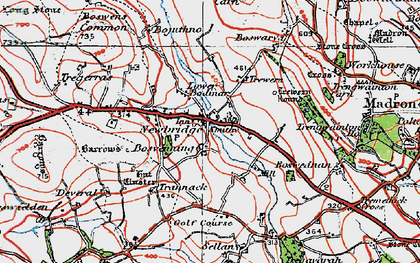 Old map of Newbridge in 1919