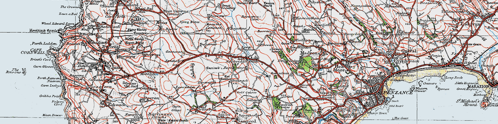 Old map of Wheal Buller in 1919