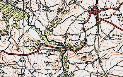 Old map of Newbridge in 1919