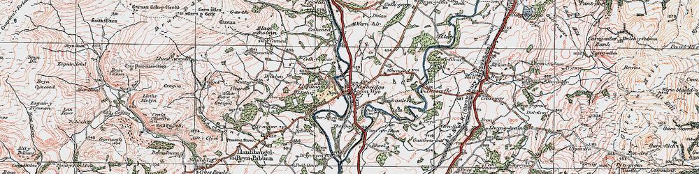 Old map of Aberithon in 1923
