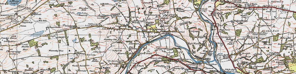 Old map of Newbrough in 1925