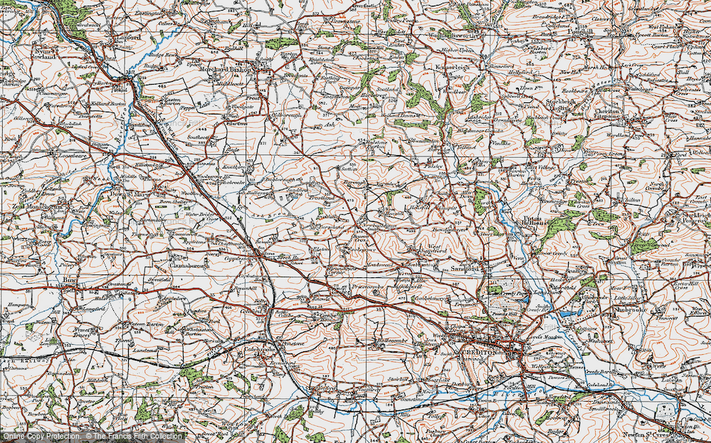 Old Map of Historic Map covering Yarmleigh in 1919