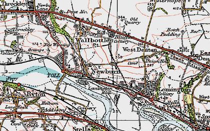 Old map of Newburn in 1925