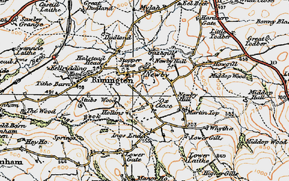 Old map of Whytha in 1924