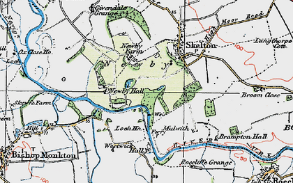 Old map of Newby in 1925