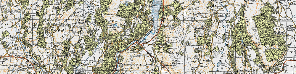 Old map of Whitestone Enclosure in 1925