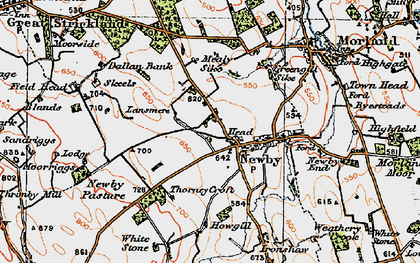 Old map of White Stone in 1925