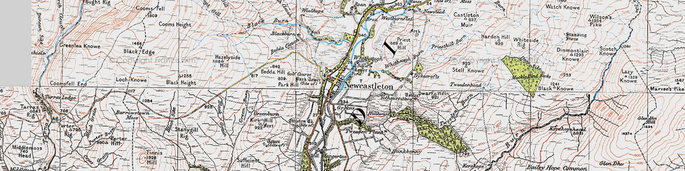 Old map of Yethouse in 1925