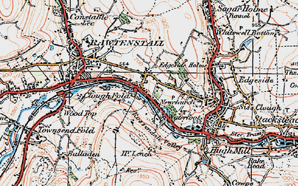 Old map of Newchurch in 1924