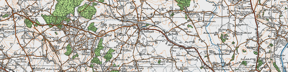 Old map of Newent in 1919