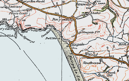 Old map of Newgale in 1922