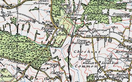 Old map of Newgate Street in 1920