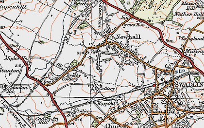 Old map of Newhall in 1921