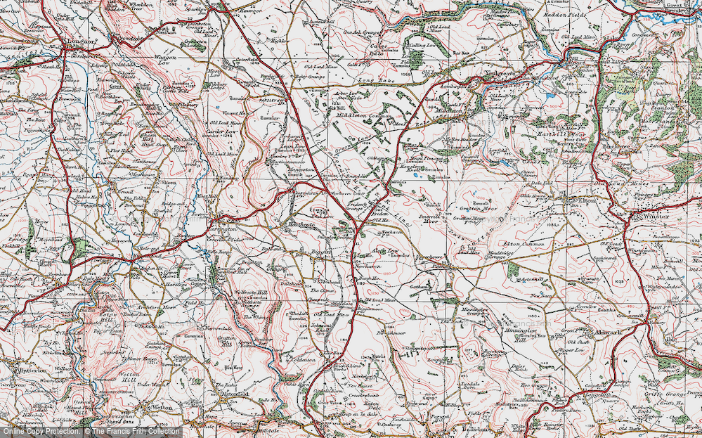 Old Map of Historic Map covering Aleck Low in 1923