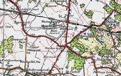 Old map of Westenhanger Castle in 1920