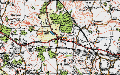 Old map of Newington in 1920