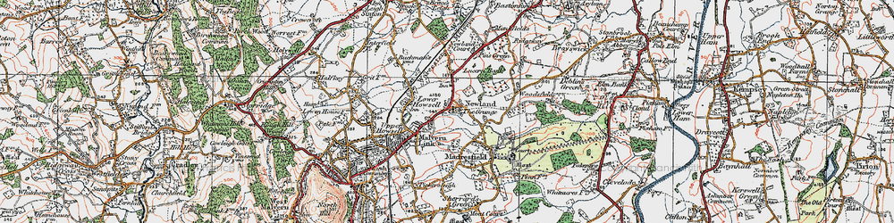 Old map of Newland in 1920