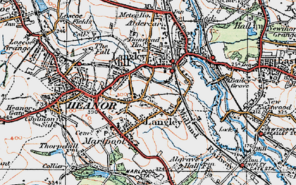 Old map of Newlands in 1921