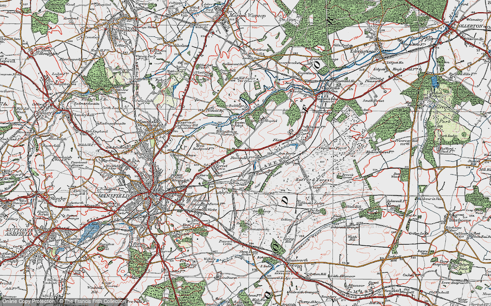 Old Map of Historic Map covering Badger Hill in 1923