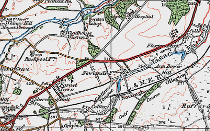 Old map of Badger Hill in 1923
