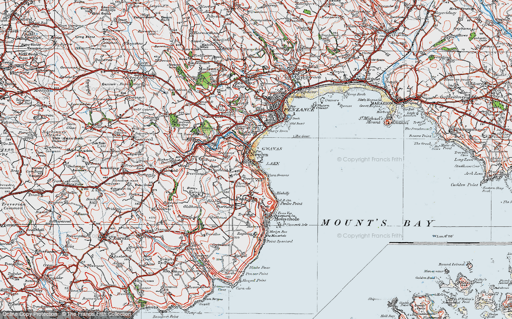 Old Map of Historic Map covering Tidal Observatory in 1919