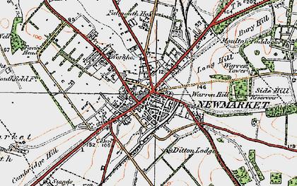 Old map of Balaton Lodge in 1920