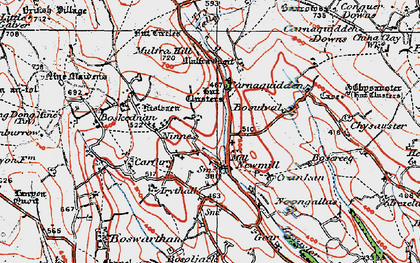 Old map of Newmill in 1919