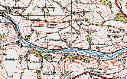 Old map of Newmills in 1919