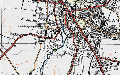 Old map of Newnham in 1920