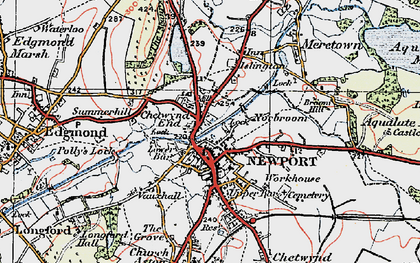Old map of Newport in 1921