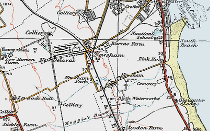 Old map of Link Ho in 1925