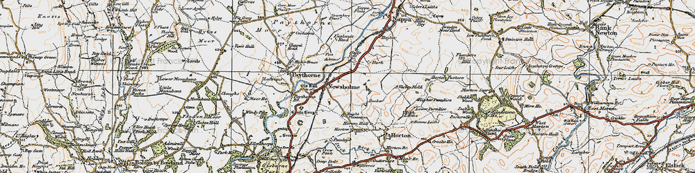 Old map of Adams in 1924