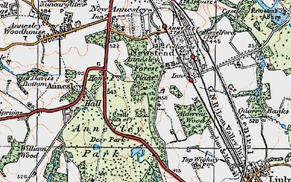 Old map of Annesley Hall in 1921