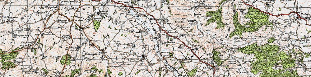 Old map of West Somerset Railway in 1919