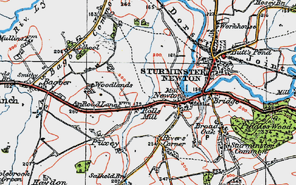 Old map of Bagber Common in 1919