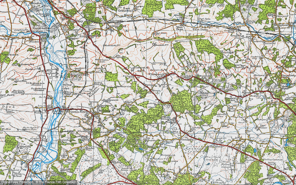 Old Map of Historic Map covering Bagfield Copse in 1919